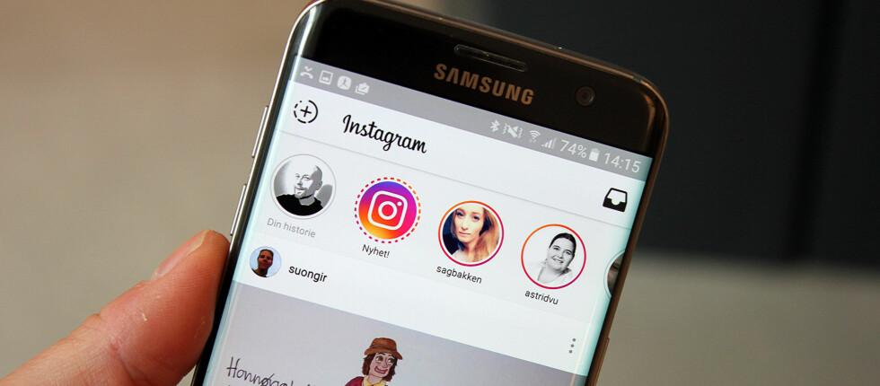 NY FUNKSJON: Instagram har rappet skamløst fra Snapchat og introduserer i disse dager en ny story-funksjon. Foto: PÅL JOAKIM OLSEN