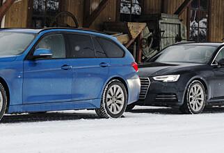 Audi A4 2.0 TDI Quattro mot BMW 320 X-drive