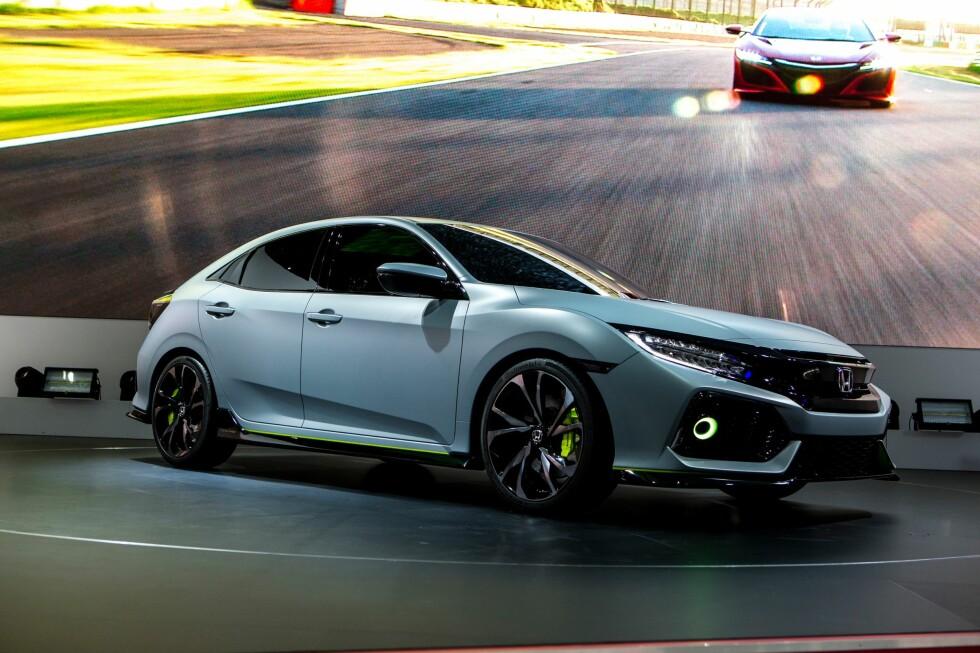 <strong><b>OMTRENT SLIK:</strong></b> Honda kalte bilen «prototype» da den ble vist tidligere i år, men den var svært lik den som kommer i produksjon i Swindon i England i disse dager. Foto: HONDA