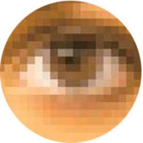 OPPLØSNING: På en lavoppløst skjerm kan du se firkantede piksler hvis du ser nøye nok etter. Illustrasjon: Bjørn Eirik Loftås