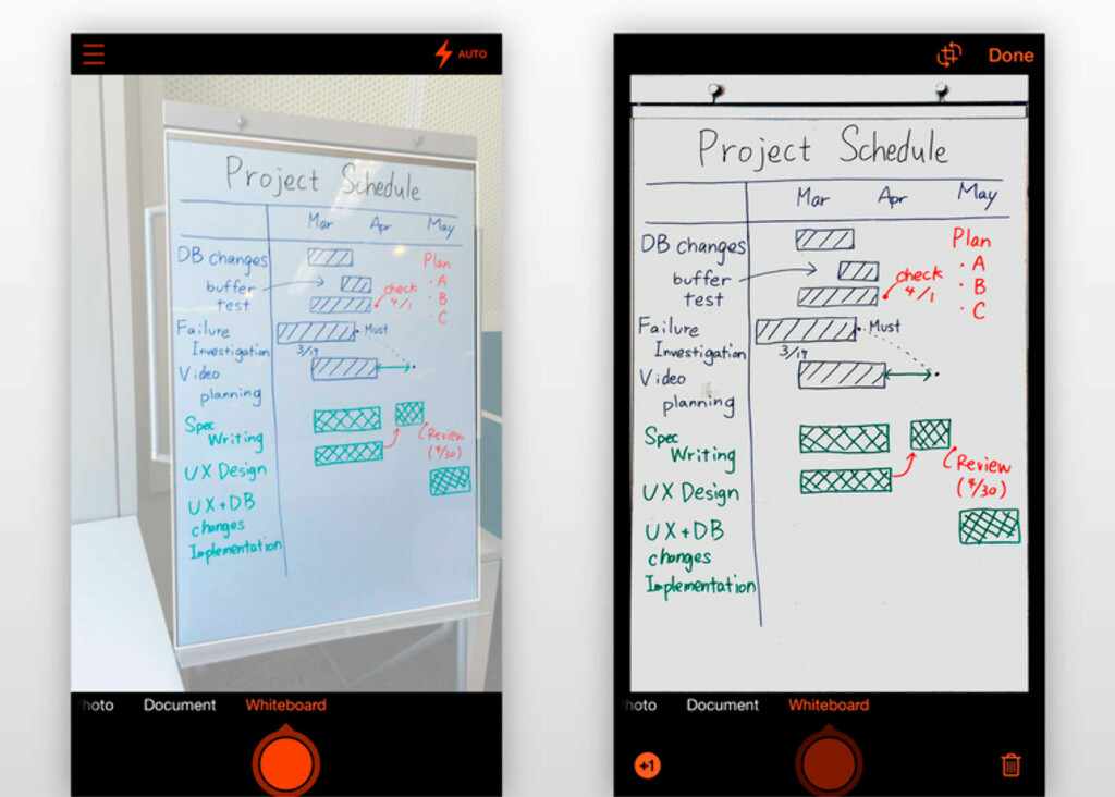 SKANNER: Office Lens fra Microsoft lar deg blant annet ta bilde av et whiteboard og få et pent resultat.