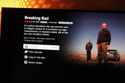 <strong><strong>I 4K:</strong></strong> Netflix har flere serier i 4K-oppløsning, som krever mer nedlastingshastighet enn normalt. Eksempler er Breaking Bad, House of Cards og Marco Polo. Foto: ØYVIND PAULSEN