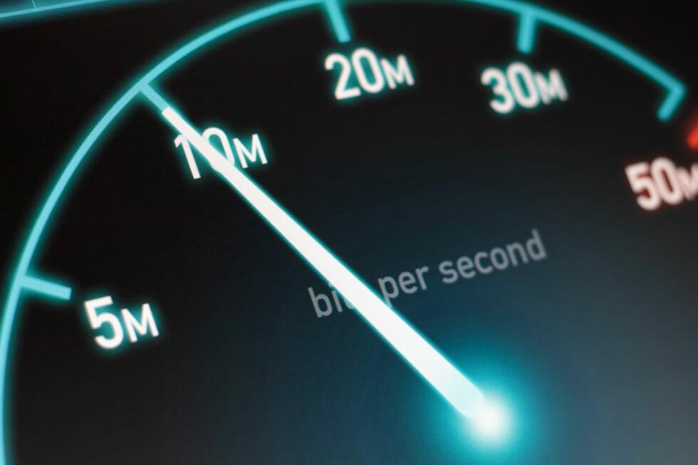 RASKT NOK? Mange betaler for mer fart enn det de får i praksis. Foto: SHUTTERSTOCK/NTB SCANPIX