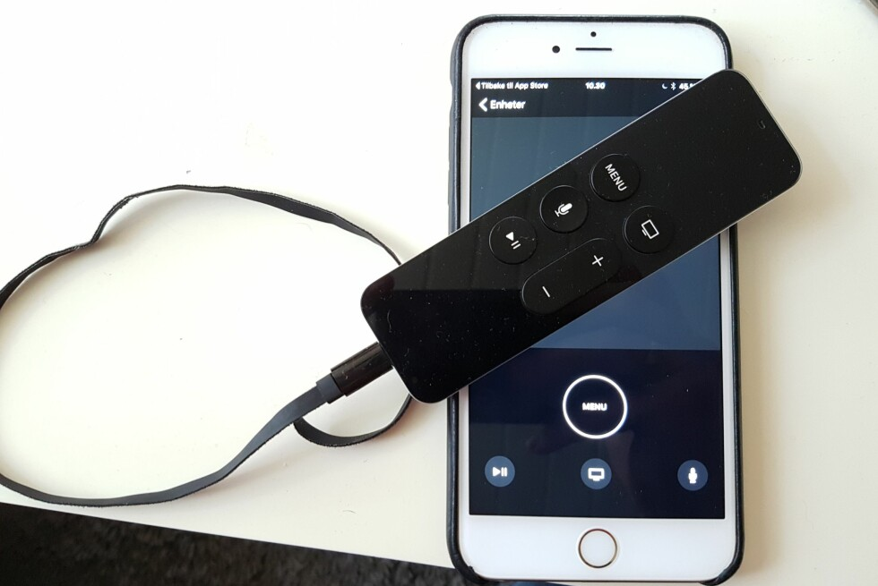 OGSÅ FRA TELEFONEN: Med Apples fjernkontroll-app for Apple TV, kan du styre Apple TV uten å bruke den medfølgende fjernkontrollen. Foto: PÅL JOAKIM OLSEN