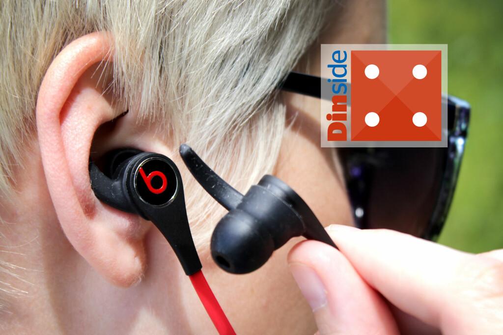 TØFFE: Treningsøreproppene til Beats ser ikke nødvendigvis ut som dine vanlige treningsørepropper i skrikende farger, noe sikkert en del setter pris på. Men de er tøffe. Foto: OLE PETTER BAUGERØD STOKKE