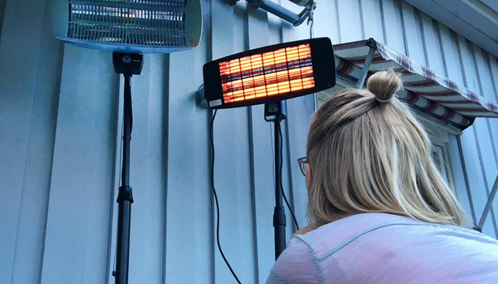 TERRASSEVARMER: Det er ikke helt enkelt å forstå hvilken terrassevarmer du bør velge, men her er i hvert fall noen nyttige tips. Foto: Privat