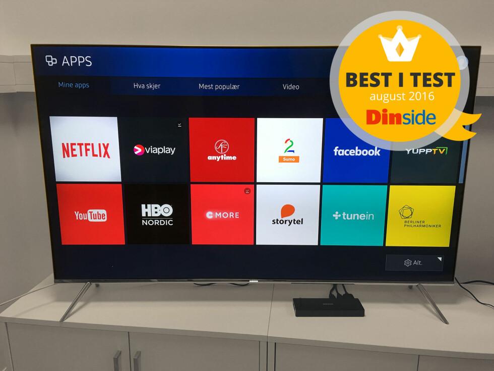 BEST I TEST: Samsung har den beste TV-en i denne trippeltesten. Foto: BJØRN EIRIK LOFTÅS