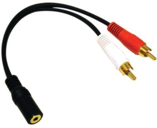 overgang: Har du bare RCA-inngang på radioen din, kan du bruke en ledning som denne. Foto: AMAZON