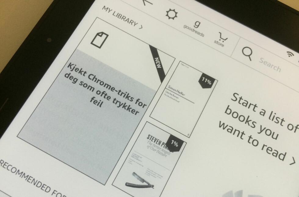OVERFØRER: Med Comfy Read kan også iOS-brukere overføre tekst fra mobiltelefon og nettbrett til Kindle-lesebrettet på en enkel måte. Foto: TORE NESET