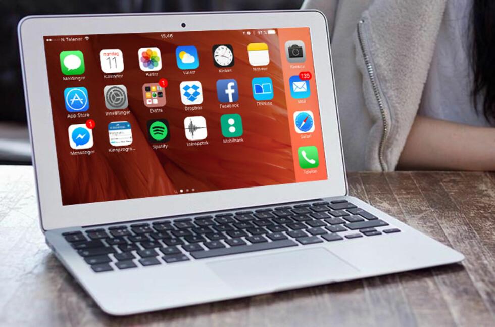 ØNSKEDRØM?: iPad Pro burde hatt MacBook-innpakning og kommet med 13 og 15-tommer skjerm som kunne snus helt rundt. Den burde kunne styres med pekeplate, og kjøre apper i vinduer.   Foto: APPLE/DINSIDE
