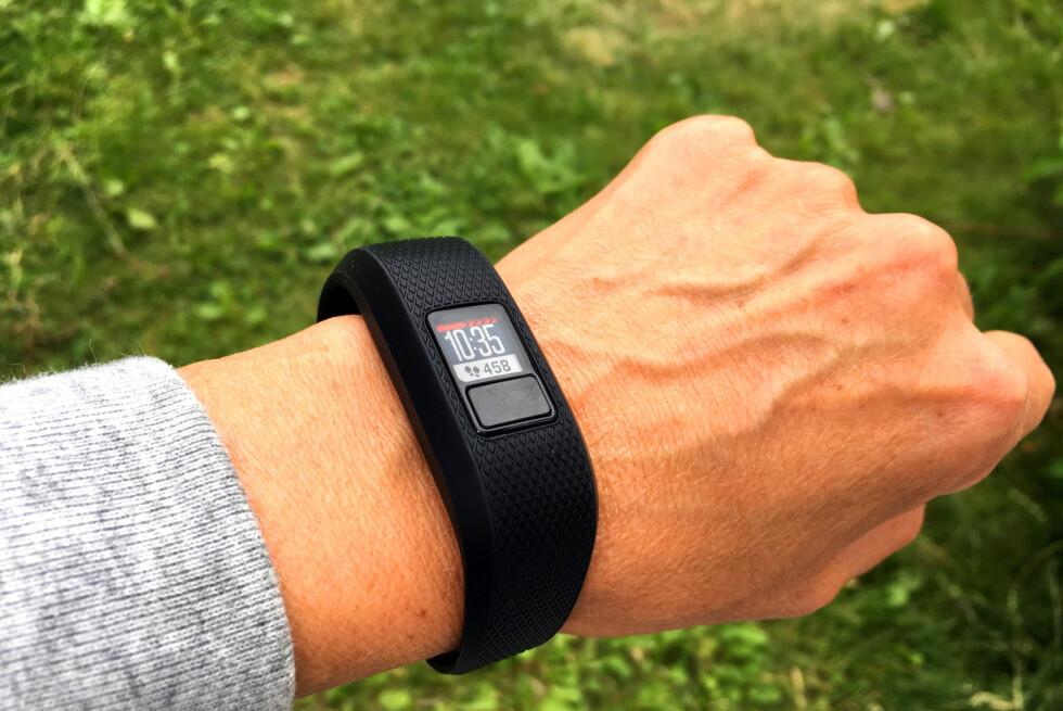 TEST AV GARMIN VIVOFIT3: Klokka er enkel å skjønne, men det er mye annet som ikke er fullt så enkelt. Foto: KRISTIN SØRDAL