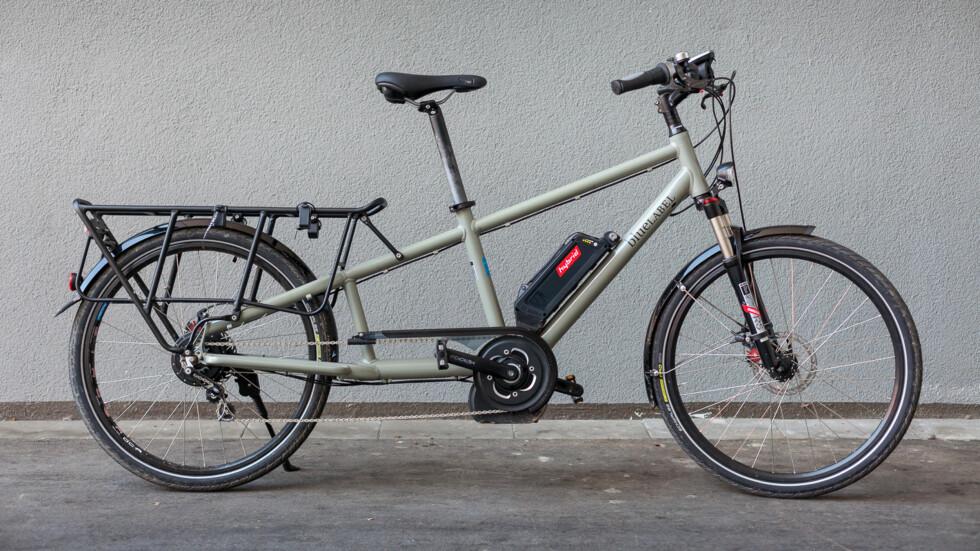 LONGTAIL: Med denne sykkelen fra Riese & Müller får du med deg mye bagasje. Foto: TRANSPORTSYKKEL.NO