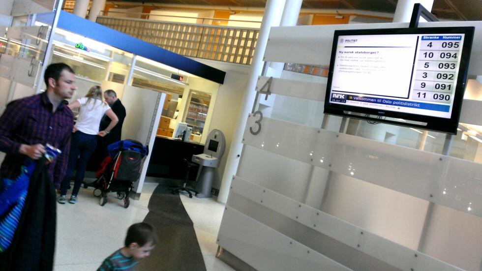 LANG VENTETID Det lønner seg å bestille time for å søke om pass. men i Oslo er det ikke ledige timer før i juni. Foto: OLE PETTER BAUGERØD STOKKE
