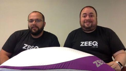 HAR DE TRUFFET BLINK? Warrick Bell og Miguel Marrero har grunn til å se fornøyde ut. Etter bare én dag på Kickstarter har de fått inn nok støtte til å starte masseproduksjon av oppfinnelsen sin Foto: ZEEQ