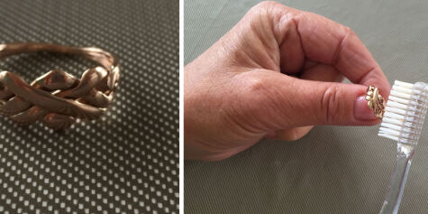 image: Nei - ikke puss gullringen! Salmiakk-trikset rengjør gull på minutter