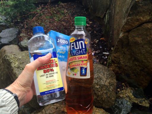 HAGETRIKS: Saft og eddik tar knekken på maur og ugress. Foto: KRISTIN SØRDAL
