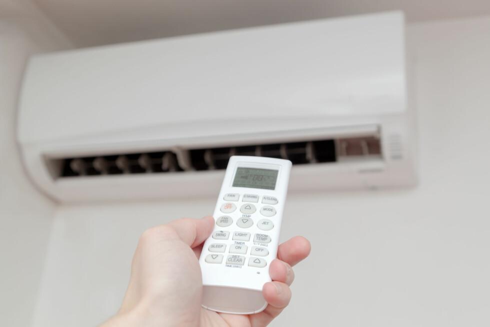 AVKJØLING: Du trenger ikke være redd for å la varmepumpa gå når gradestokken passerer 30. Den er mer energieffektiv om sommeren enn om vinteren. Foto: SHUTTERSTOCK / TOMISLAV PINTER / SCANPIX