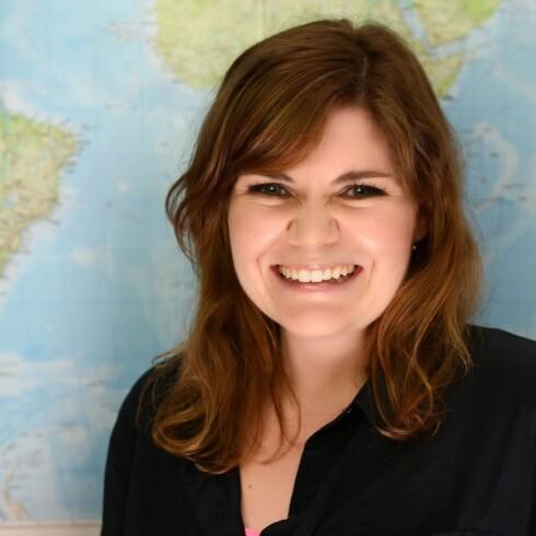 HJELP FRA GOOGLE: Anne Sofie Kirkegaard, kommunikasjonsrådgiver ved Google København, forteller at Google tar hensyn til brukernes behov, og har derfor lansert søkeoptimaliseringen Symptom Search.  Foto: Privat
