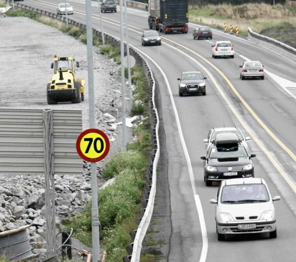 FÅR BOT: Overstiger du den gitte fartsgrensen får du også her bot. Mange velger allikevel å kjøre langt over fartsgrensen.  Foto: NTB SCANPIX
