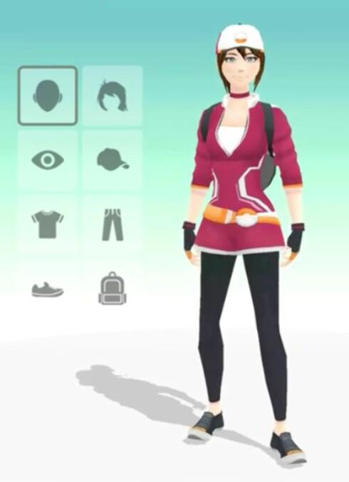 VELG SELV: Når du starter spillet første gang, kan du tilpasse utseendet på figuren din. Det har dog ingen betydning for spillet.