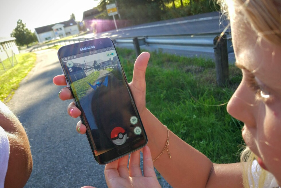 FANG DEM ALLE: Totalt er det 151 ulike Pokémon-figurer å samle i Pokémon Go. Foto: PÅL JOAKIM OLSEN