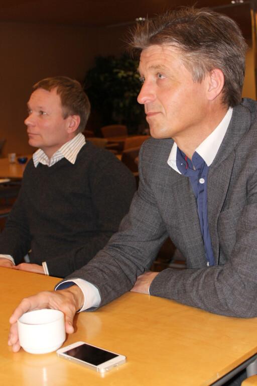 VIKTIG Å SJEKKE: Produktsjef Nils Inge Brurberg i BankID forklarer at kodeordene slettes ikke bare er til for moro. Foto: DINSIDE