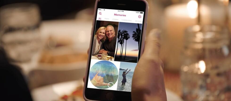 NY FUNKSJON: Nå kan du lagre snappene dine i nettskyen hos Snapchat og bruke dem på nytt senere. Foto: SNAPCHAT