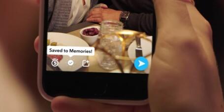 Ny Snapchat-funksjon: Minner