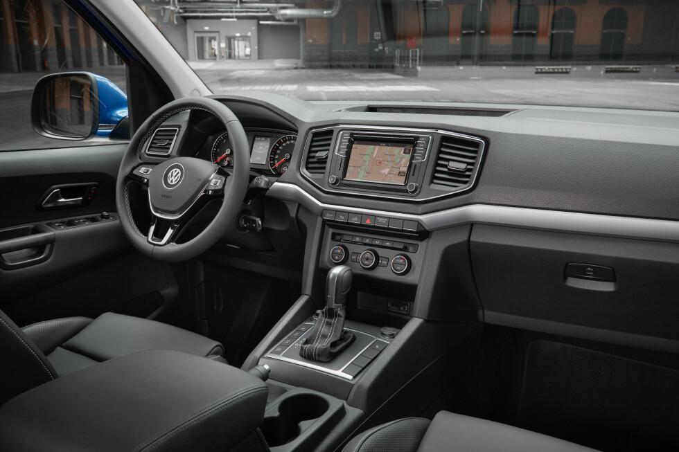 <strong><b>FORFINET:</strong></b> Også innvendig er det oppgraderinger, men man kjenner seg lett igjen.  Foto: VW