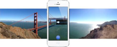 <strong><strong>PANORAMA:</strong></strong> Både iPhones kameraapp og de fleste andre kan ta panoramabilder ved å sy sammen flere bilder som tas mens du beveger telefonen. Foto: APPLE