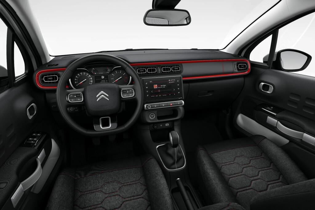 ANNERLEDES: Citroën går bort fra det buede dashbordet, som de har gjort i C4 Cactus. Foto: CITROËN