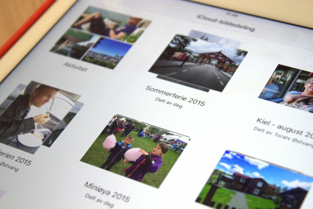 <b>LETTVINN BILDEDELING:</b> Med iCloud kan du raskt og enkelt dele bilder fra din iPhone eller iPad. Foto: KIRSTI ØSTVANG