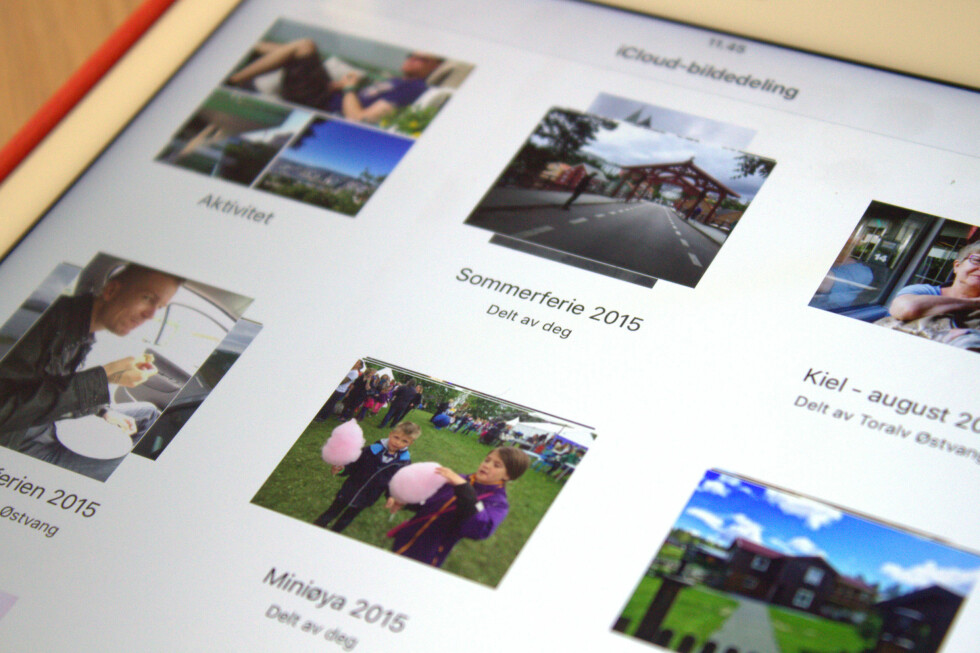 LETTVINN BILDEDELING: Med iCloud kan du raskt og enkelt dele bilder fra din iPhone eller iPad. Foto: KIRSTI ØSTVANG