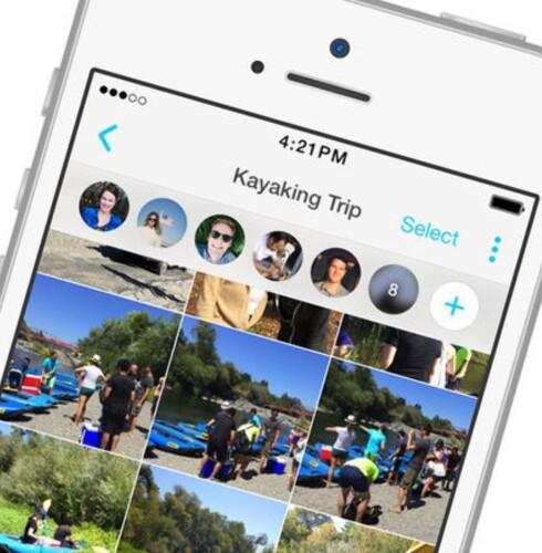 MOMENTS: Facebook har en egen app for grupper som vil dele bilder med hverandre. Foto: FACEBOOK