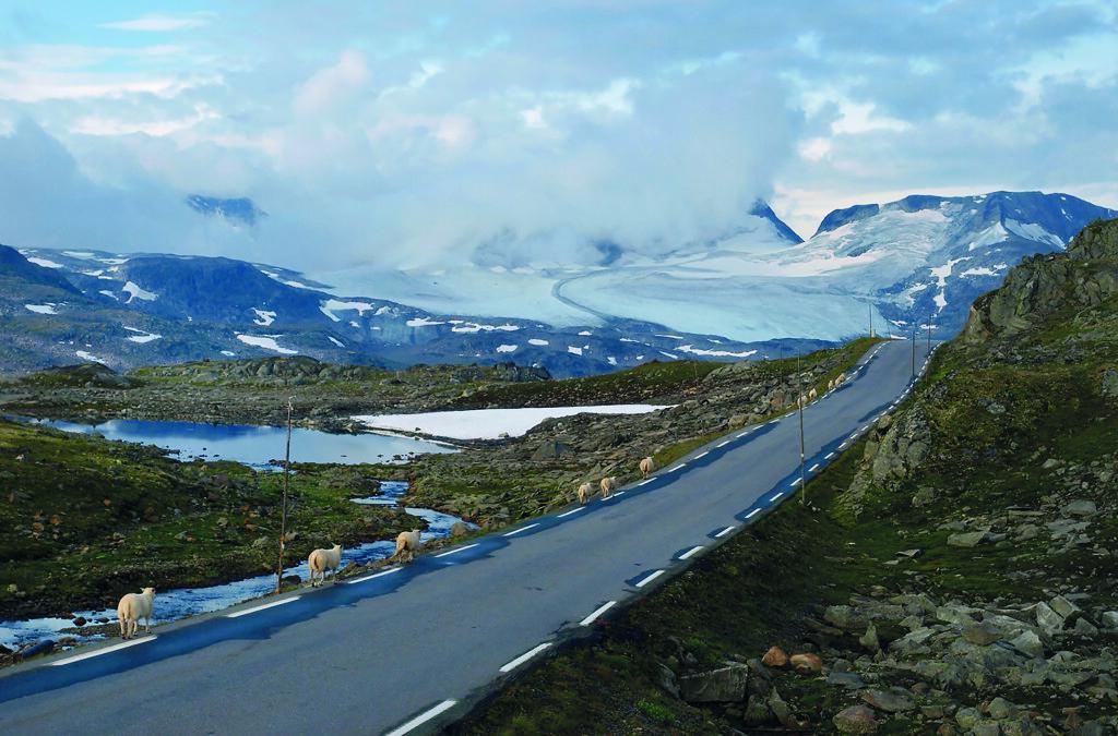 BILLEDSKJØNT: Det er utsikter som dette mange ferdes til fjells for.  Foto: Werner Harstad / Statens vegvesen