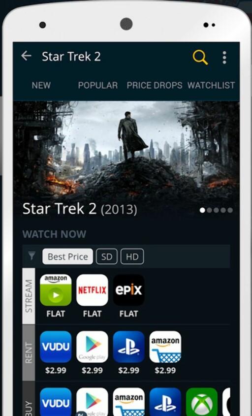 APP: Tjenesten finnes også som app for iOS og Android. Foto: JustWatch