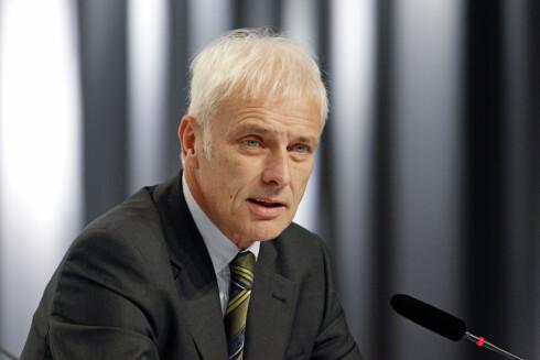 ERKJENNER STRATEGISK FEILSPOR: Volkswagen-konsernets toppsjef, Matthias Müller. Foto: VOLKSWAGEN