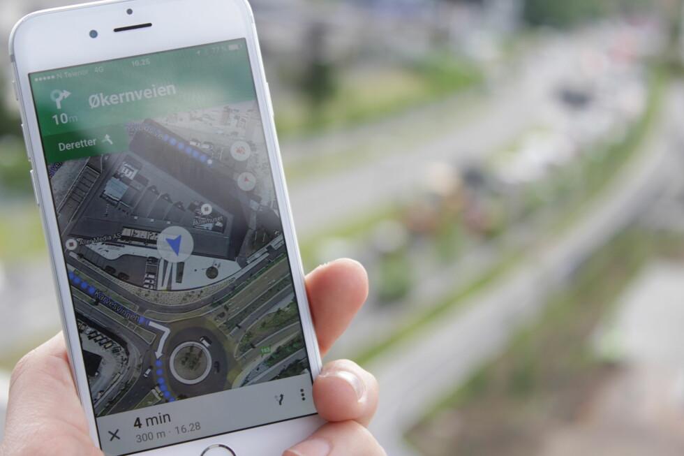 OFFLINE: Du trenger ikke å være på nett for å bruke Google Maps. Foto: ENDRE VELLENE