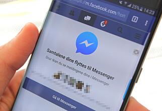 Facebook tvinger mobilbrukere over på Messenger-appen