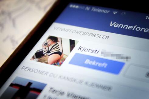 NY VENN? Facebook florerer av falske profiler. Ikke takk ja hvis du er usikker på hvem det egentlig er som står bak profilen. Foto: OLE PETTER BAUGERØD STOKKE