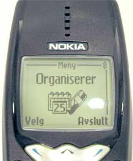 IKKE FARGESKJERM: Men Nokia 3510 hadde derimot kalender med alarmfunksjon.  Foto: DINSIDE
