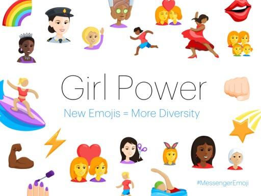 BEDRE KVINNE-EMOJIER: Facebook har tatt til seg kritikken om dårlig likestilling for kvinner i emoji-verden. Foto: FACEBOOK