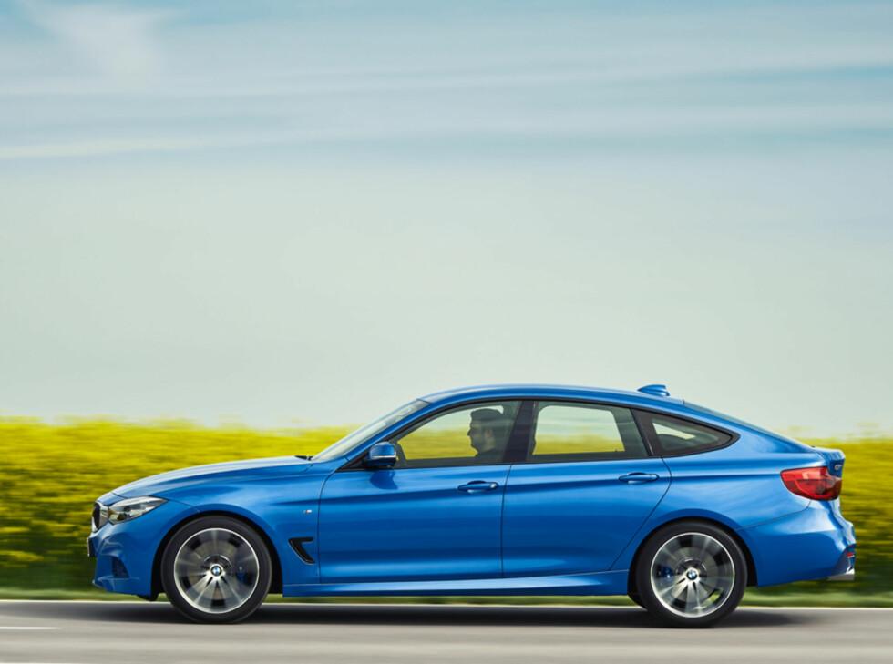 LANGSTRAKT: GT måler hele 482 cm, noe som er 20 cm lengre enn standard 3-serie.  Foto: BMW