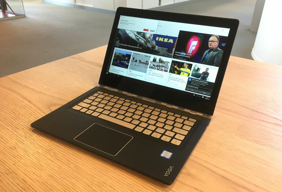 PC-MODUS: Vi tror de fleste vil bruke 900S mest i PC-modus. Det er det mange gode grunner til, men den innbyr også til bruk som nettbrett. Foto: BJØRN EIRIK LOFTÅS