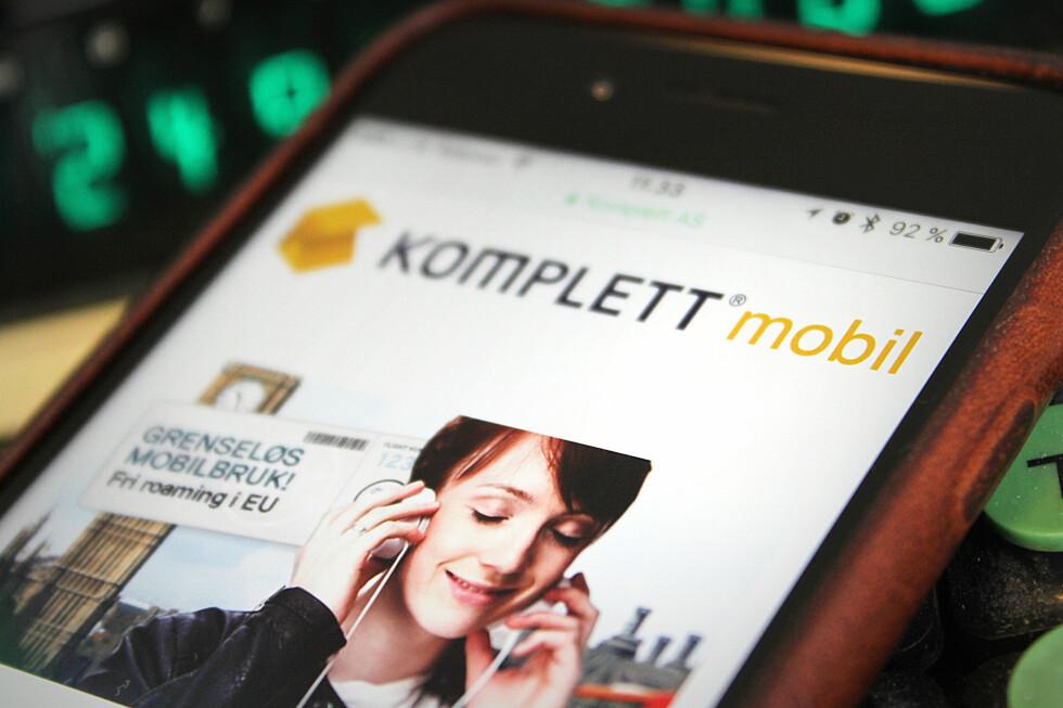 NYKOMMER: Komplett Mobil er en helt fersk norsk mobiloperatør. Vi har sett på priser og tjenester.  Foto: OLE PETTER BAUGERØD STOKKE