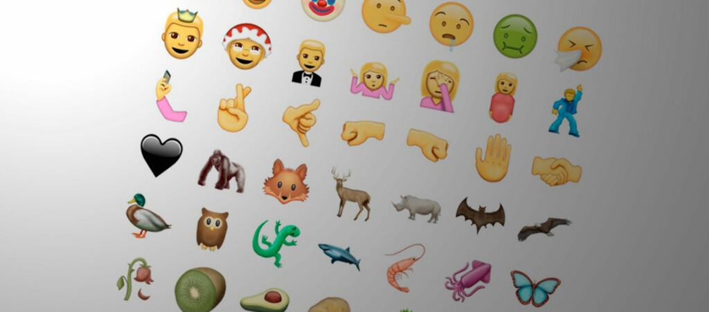 <strong>SNART FLERE:</strong> 72 nye Emoji-ikoner blir tatt med i Unicode 9.0, som blir ferdigstilt i sommer. Foto: EMOJIPEDIA/PÅL JOAKIM OLSEN