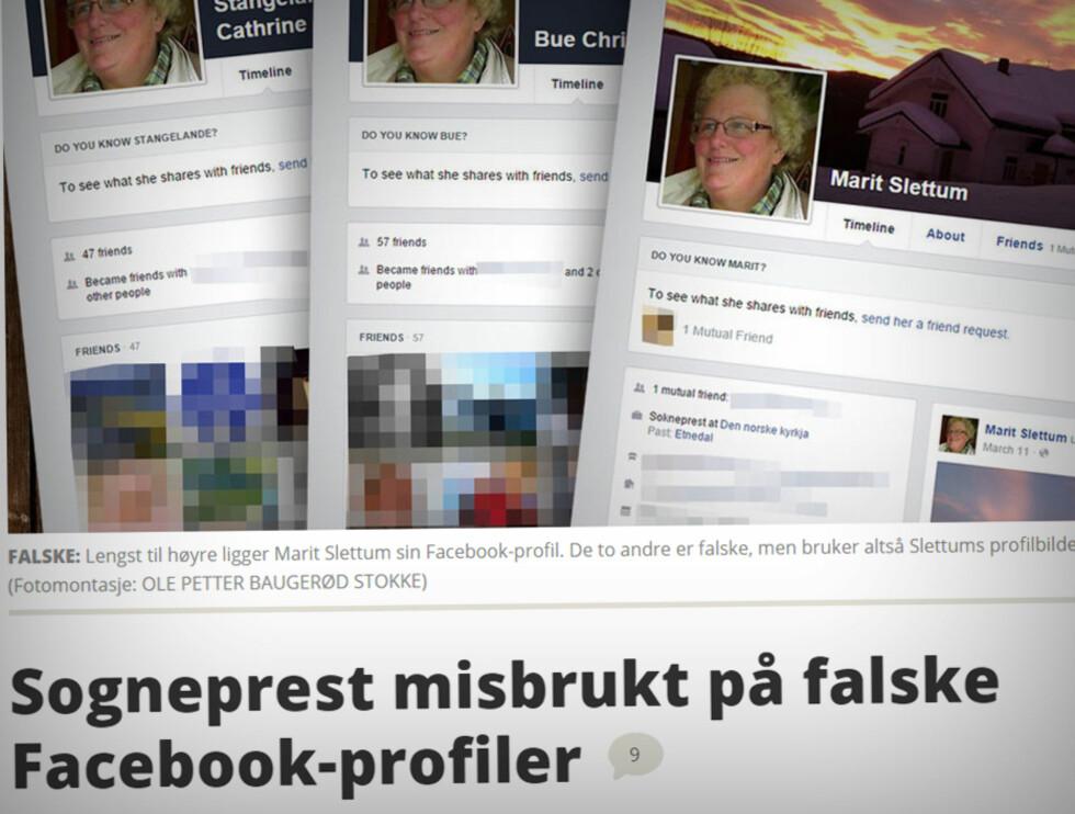 MISBRUK AV INFO: Dinside har tidligere skrevet om soknepresten som fikk blant annet profilbildet sitt misbrukt på falske profiler. Det kan bli resultatet av falske Facebook-venner. Foto: OLE PETTER BAUGERØD STOKKE