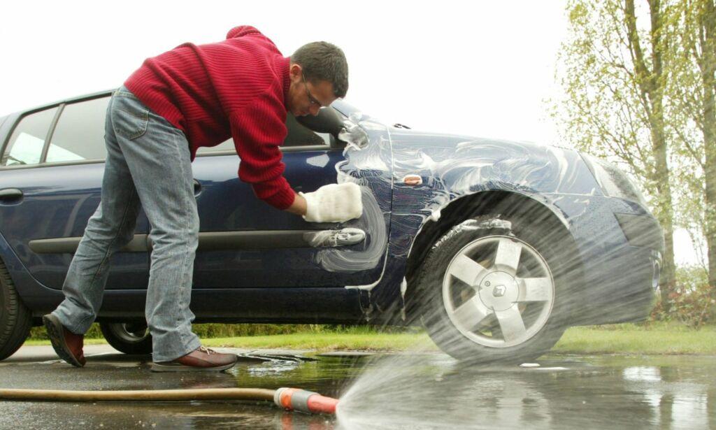 image: Er det greit å vaske bilen hjemme?