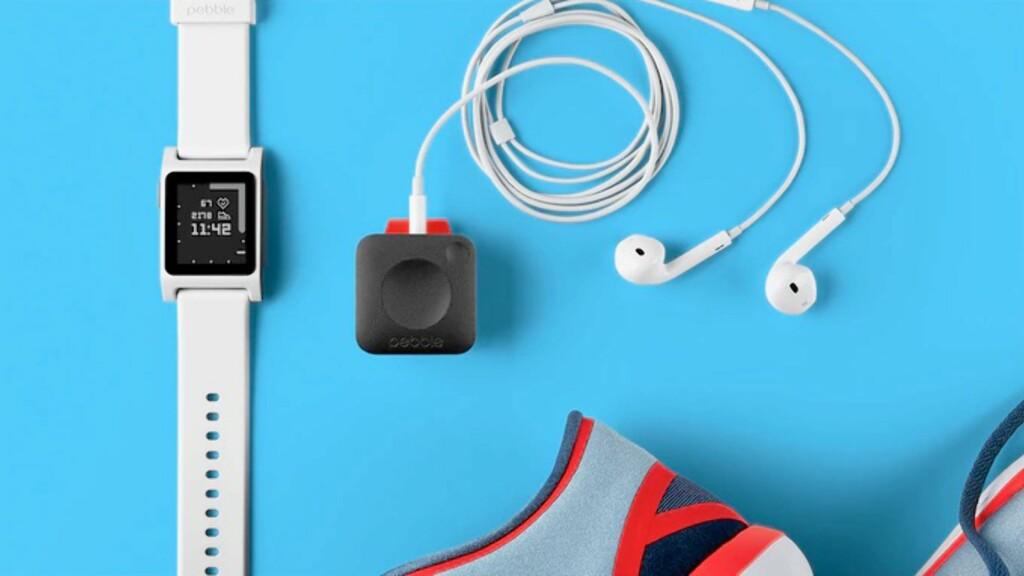 LITEN: Pebble Core kan minne om en iPod Shuffle, men kan ogs brukes til å strømme musikk fra Spotify. Foto: PEBBLE