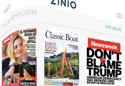 STORKIOSK PÅ NETT: På Zinio finner du blader og tidsskrifter fra hele verden. Foto: TORE NESET